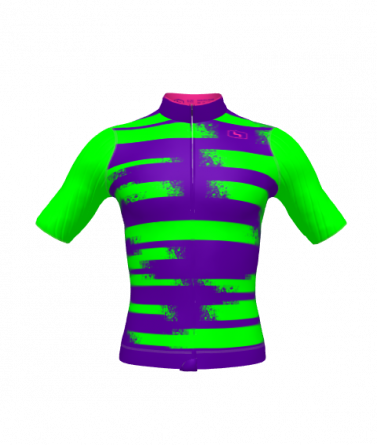 4Cyclists men cycling jersey evo race echelon neon green