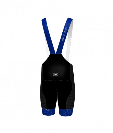 4Cyclists men cycling bibshorts evo shield jam blue