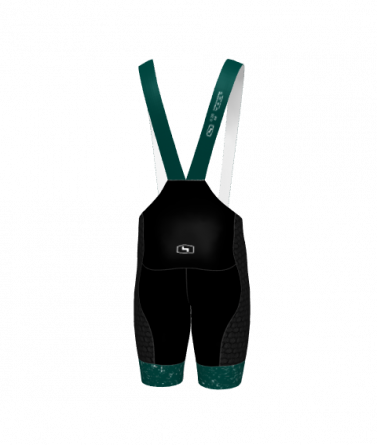 4Cyclists men cycling bibshorts evo shield jam green