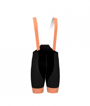 4Cyclists men cycling bibshorts evo shield jam salmon