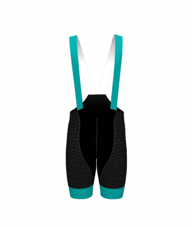 4Cyclists women cycling bibshorts evo shield echelon teal
