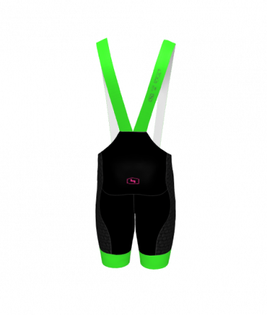 4Cyclists men cycling bibshorts evo shield echelon green