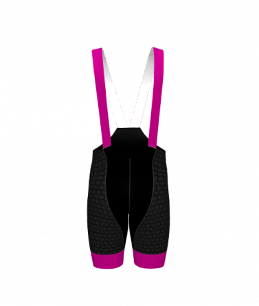 4Cyclists women cycling bibshorts evo shield echelon fuchsia