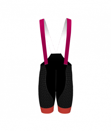 4Cyclists women cycling bibshorts evo shield prime fuchsia