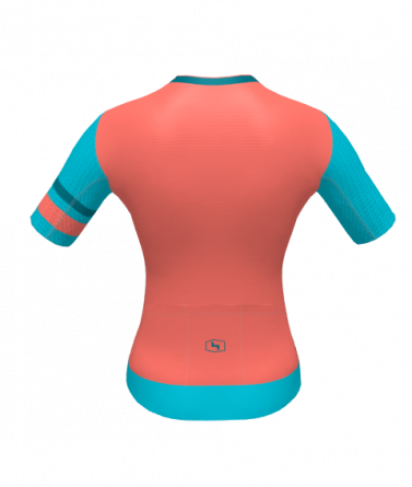 4Cyclists women cycling jersey evo aero prime salmon