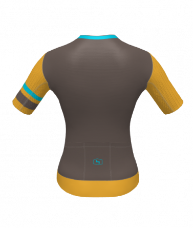 4Cyclists women cycling jersey evo aero prime brown