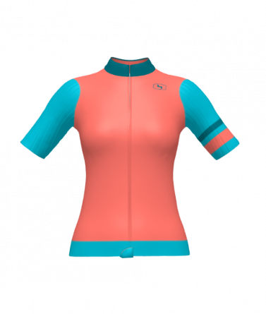 4Cyclists women cycling jersey evo race prime salmon