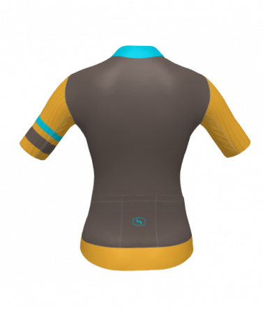 4Cyclists women cycling jersey evo race prime brown
