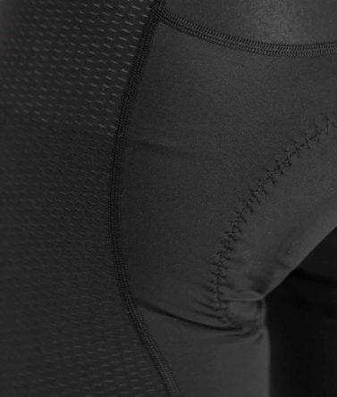 Cycling bib shorts mens 4cyclists evo aero echelon yellow details