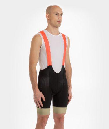 Cycling bib shorts mens 4cyclists evo aero prime orange