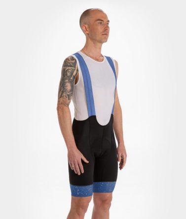 Cycling bib shorts mens 4cyclists evo race jam blue