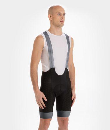 Cycling bib shorts mens 4cyclists evo shield echelon grey