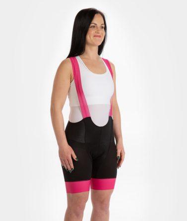 Cycling bib shorts womens 4cyclists evo aero echelon fuchsia