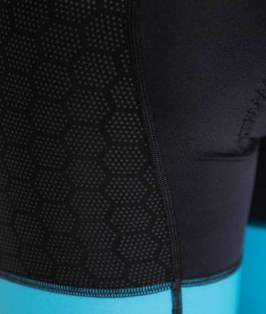 Cycling bib shorts womens 4cyclists evo shield prime salmon details