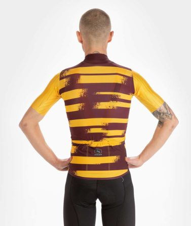 Cycling jersey mens 4cyclists evo race echelon yellow back