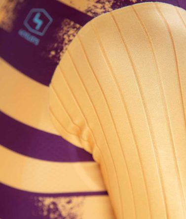 Cycling jersey mens 4cyclists evo race echelon yellow details materials