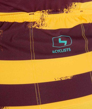Cycling jersey mens 4cyclists evo race echelon yellow pocket