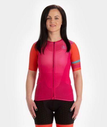 Cycling jersey womens 4cyclists evo aero prime fuchsia
