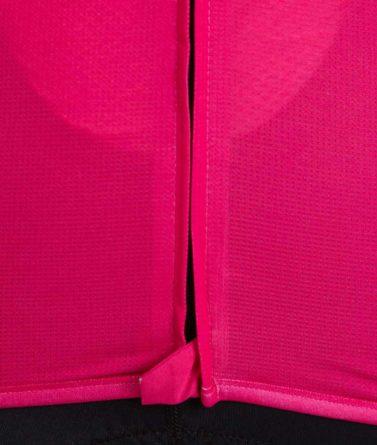 Cycling jersey womens 4cyclists evo aero prime fuchsia close-up