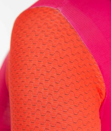 Cycling jersey womens 4cyclists evo aero prime fuchsia details materials
