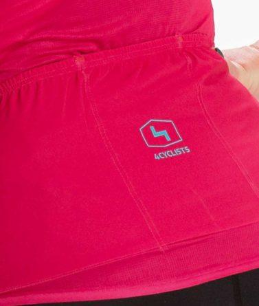Cycling jersey womens 4cyclists evo aero prime fuchsia pocket