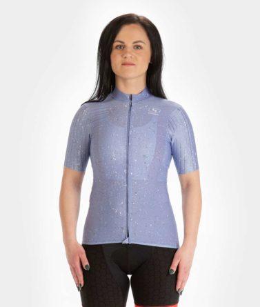 Cycling jersey womens 4cyclists evo race jam lilac