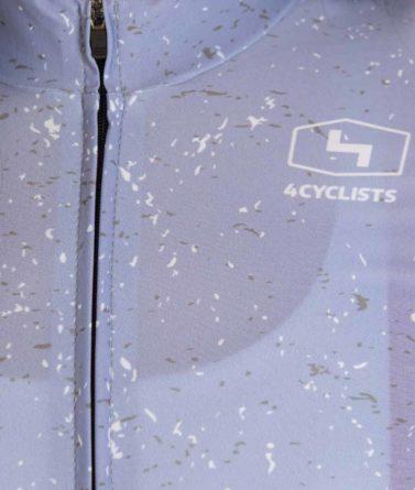 Cycling jersey womens 4cyclists evo race jam lilac zipper