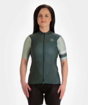 Cycling jersey womens 4cyclists evo race prime moss green