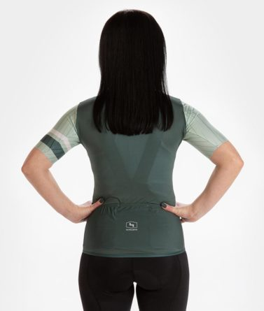 Cycling jersey womens 4cyclists evo race prime moss green back