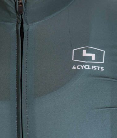 Cycling jersey womens 4cyclists evo race prime moss green zipper