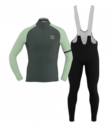 4CYCLISTS-Mens_Cycling-AboutZero-Kit-Moss-Green