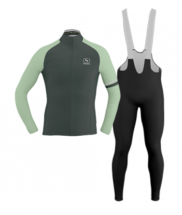 4CYCLISTS-Mens_Cycling-Thermal-Kit-Moss-Green