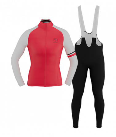 4CYCLISTS-Womens_Cycling-AboutZero-Kit-Red
