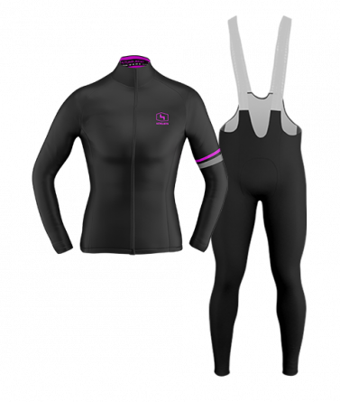 4CYCLISTS-Womens_Cycling-Thermal-Kit-Black