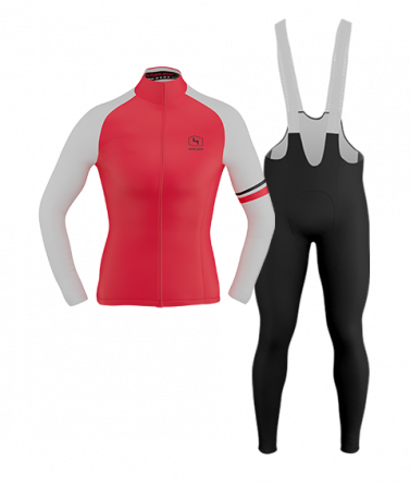 4CYCLISTS-Womens_Cycling-Thermal-Kit-Red