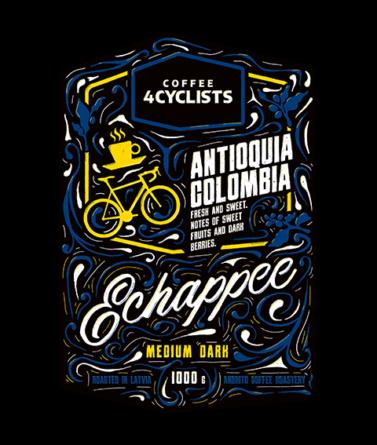 COFFEE4CYCLISTS-coffee-for-cyclists-cycling-1000g-Echappee-Medium-dark-Antioquia-Colombia-1800m