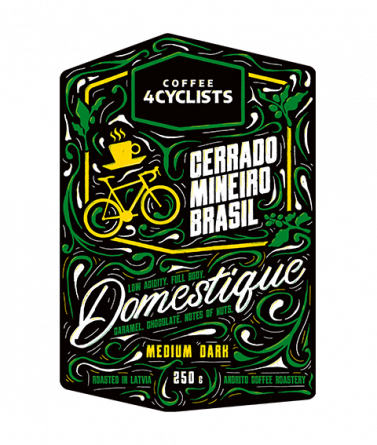 COFFEE4CYCLISTS-coffee-for-cyclists-cycling-250g-Domestique-Medium-dark-Cerrado-Mineiro-Brasil-1200m