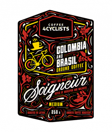 COFFEE4CYCLISTS-coffee-for-cyclists-cycling-250g-Soigneur-groundcoffee-Medium-Brasil-Colombia-label