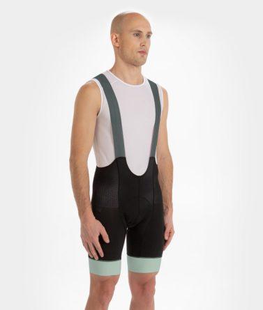 Cycling bib shorts mens 4cyclists evo aero prime moss green