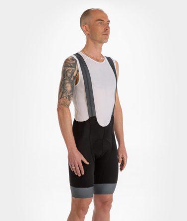 Cycling bib shorts mens 4cyclists evo race prime black