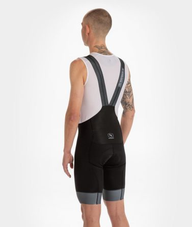 Cycling bib shorts mens 4cyclists evo race prime black back