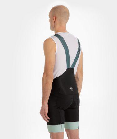 Cycling bib shorts mens 4cyclists evo race prime moss green back