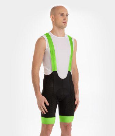 Cycling bib shorts mens 4cyclists evo shield echelon neon green
