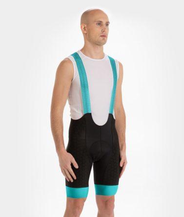 Cycling bib shorts mens 4cyclists evo shield echelon teal