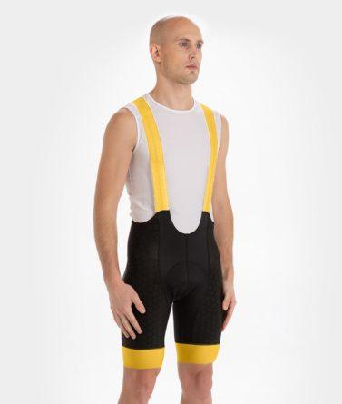 Cycling bib shorts mens 4cyclists evo shield echelon yellow