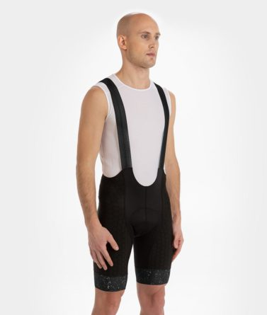 Cycling bib shorts mens 4cyclists evo shield jam black
