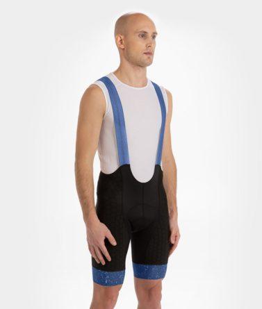 Cycling bib shorts mens 4cyclists evo shield jam blue