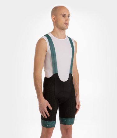 Cycling bib shorts mens 4cyclists evo shield jam green