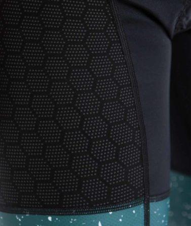 Cycling bib shorts mens 4cyclists evo shield jam green details