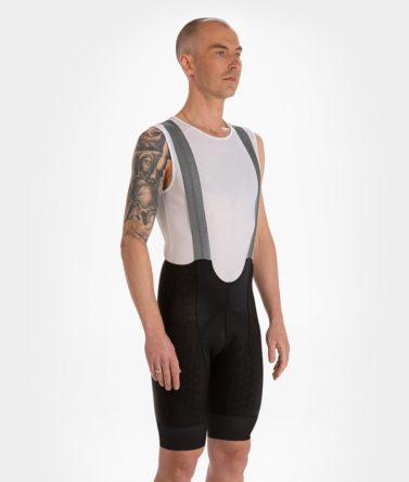 Cycling bib shorts mens 4cyclists evo shield prime grey